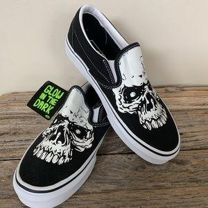 Vans Glow Skulls Classic Slip-On Shoes